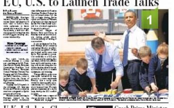 Ouverture des négociations sur l'accord de libre-échange UE-USA