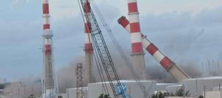 Vidéo impressionnante de la démolition d'une centrale électrique