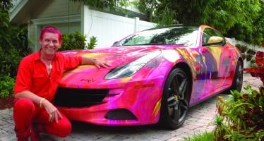 Fort Lauderdale : Duaiv peint une Ferrari FF et une Lamborghini Aventador