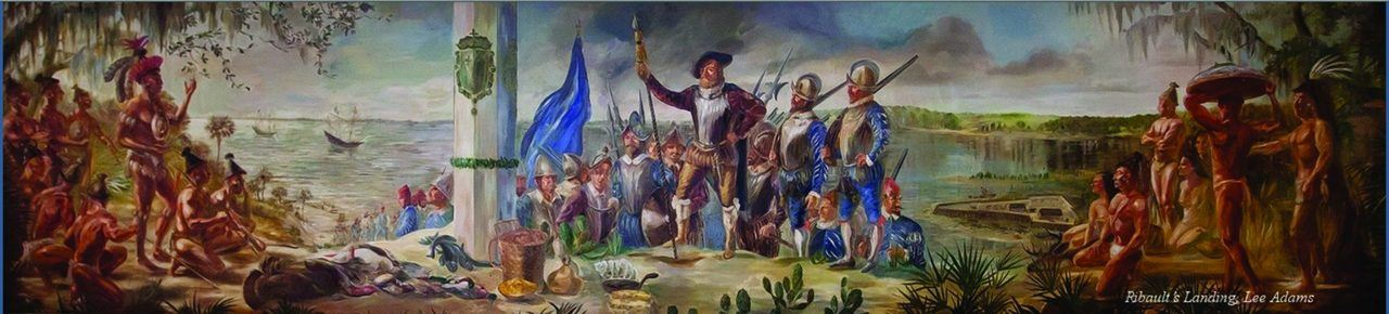 L'arrivée de Jean Ribault et des Françaisen Floride.