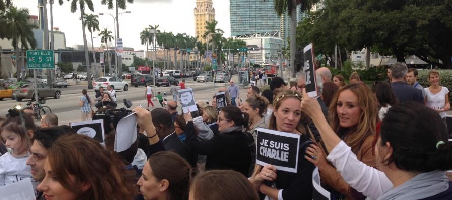Attentats terroristes : 2e manifestation des Français de Miami