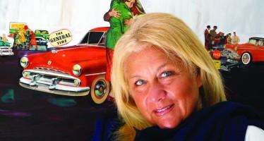 Nathalie Zelman colle et peint l'Amérique des 1950's