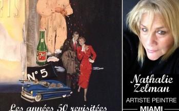 Nathalie Zelman, une peintre française à Miami (Floride)