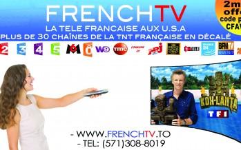 Télé française aux Etats-Unis : 2 mois de FrenchTV gratuits !