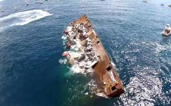 Floride : Des statues géantes s'explosent au fond de l'océan à Deerfield Beach