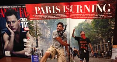 «Paris est en flammes» pour le magazine Vanity Fair