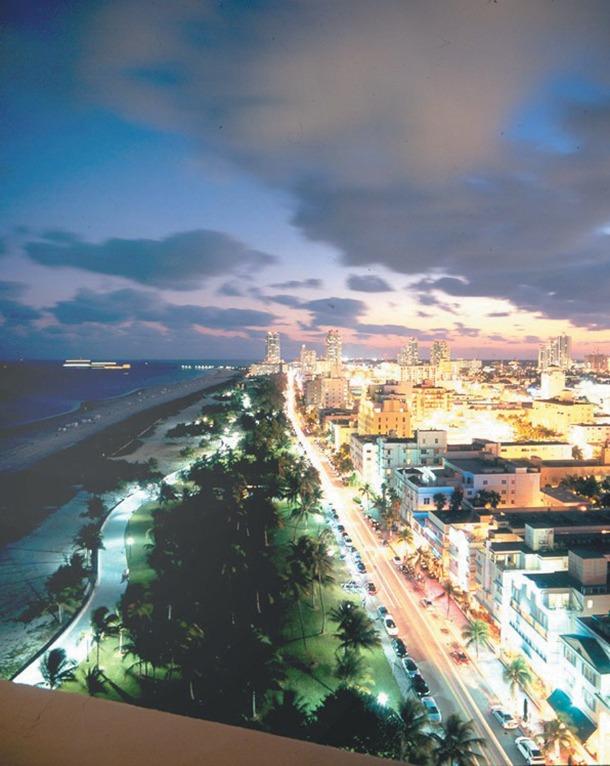 La fameuse plage de South Beach à Miami Beach