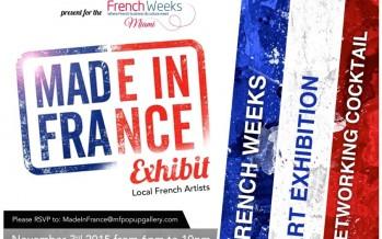 Soirée avec les artistes français de Miami le 3 novembre