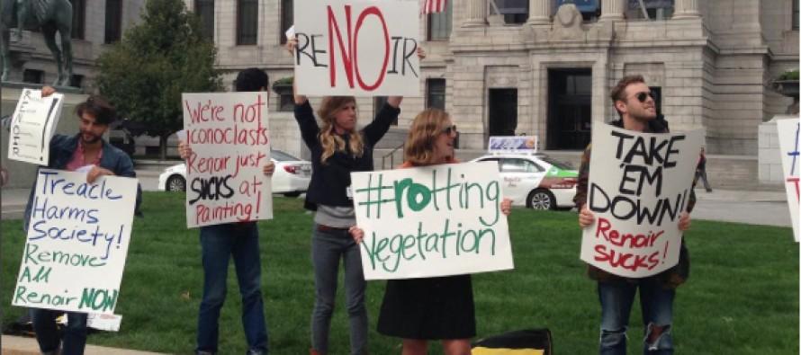 Manifestation à Boston contre les peintures de Renoir !