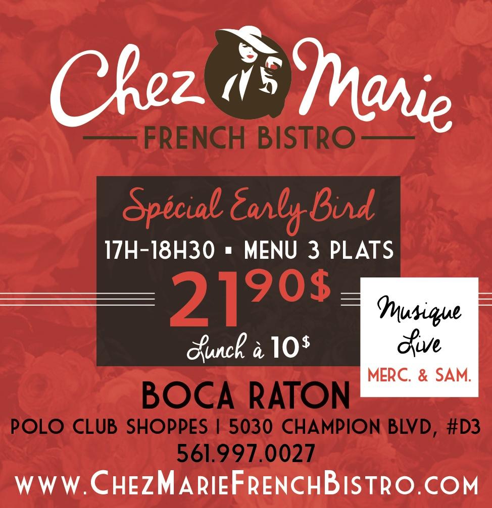 Chez Marie Restaurant Boca Raton