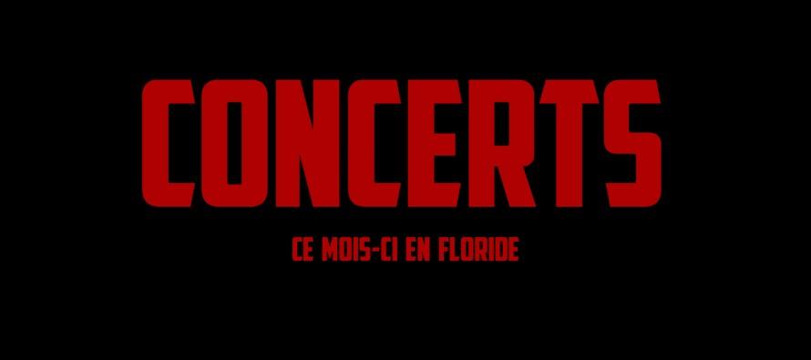 Concerts à Miami et en Floride en février 2018