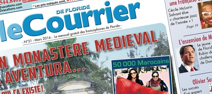 Le Courrier de Floride de Mars 2016 est sorti !