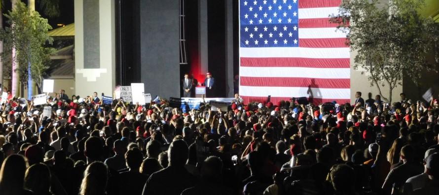 En Floride avec Donald Trump (élections primaires aux Etats-Unis)
