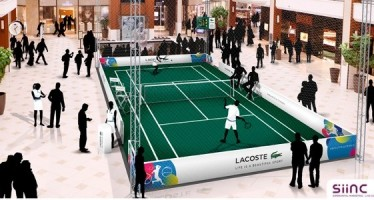 Miami Open : Lacoste ouvre un court de tennis indoor à Aventura Mall !