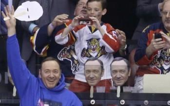 Kevin Spacey est venu soutenir les Florida Panthers (Hockey)