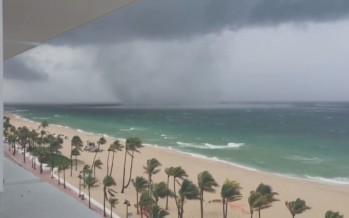 Impressionnante trombe marine sur Fort Lauderdale en Floride (vidéos)