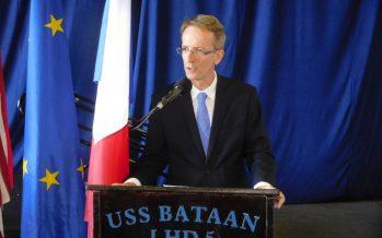 Mot d'accueil du consul de France, Philippe Létrilliart, aux nouveaux arrivants