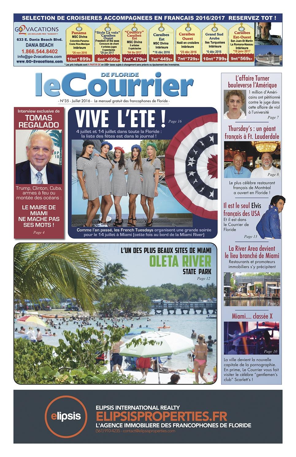 Courrier de Floride de Juillet et Août 2016