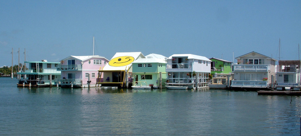 Houseboats sur le Palm Avenue Causeway de Key West