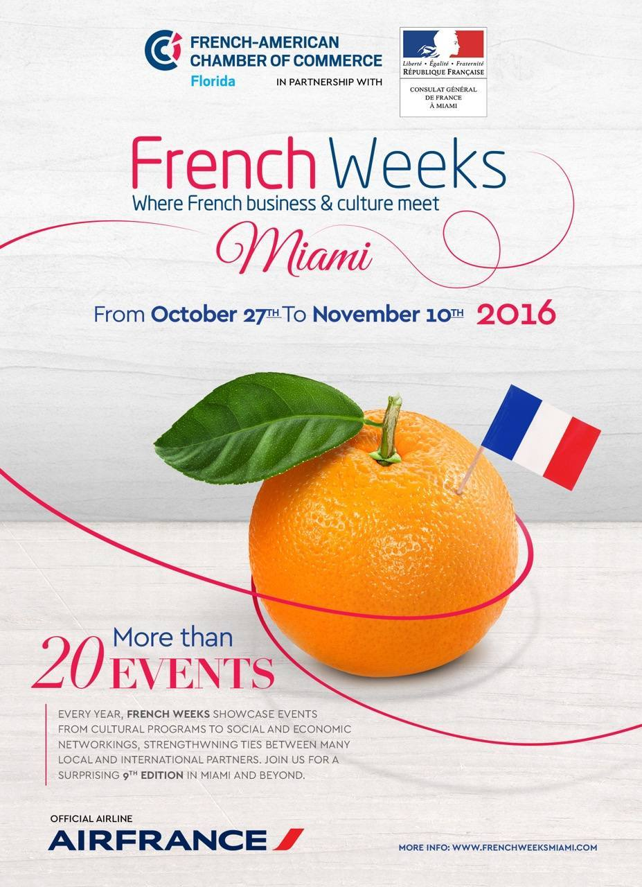 French weeks miami 2016 voici le programme le for Chambre de commerce miami
