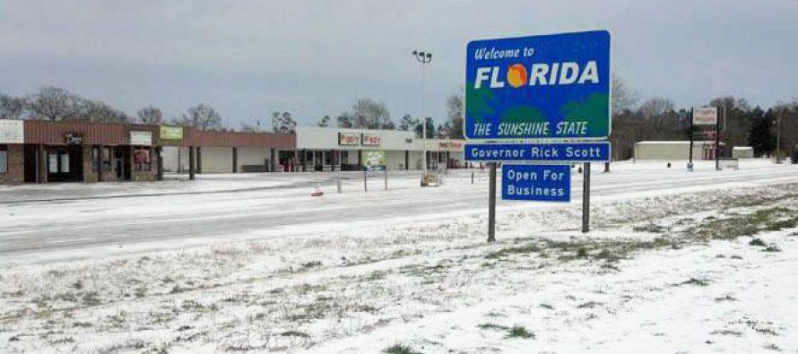 ALERTE METEO : De la neige sur toute la Floride la nuit prochaine !