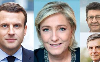 La télé Belge annonce Macron en tête de la Présidentielle devant un trio serré