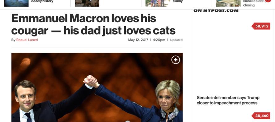 La presse américaine s'en prend à la «Cougar» d'Emmanuel Macron