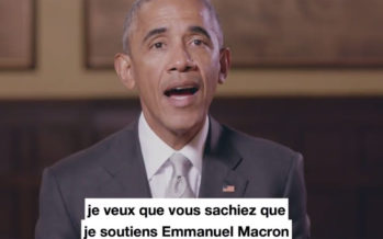 Obama sort de son silence pour soutenir Emmanuel Macron (vidéo)