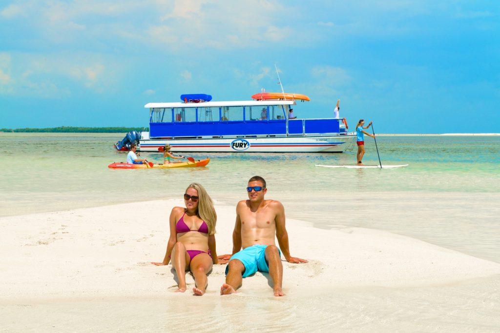 Excursions de Fury Waters sur les îles et banc de sables au large de Key West (Keys de Floride)
