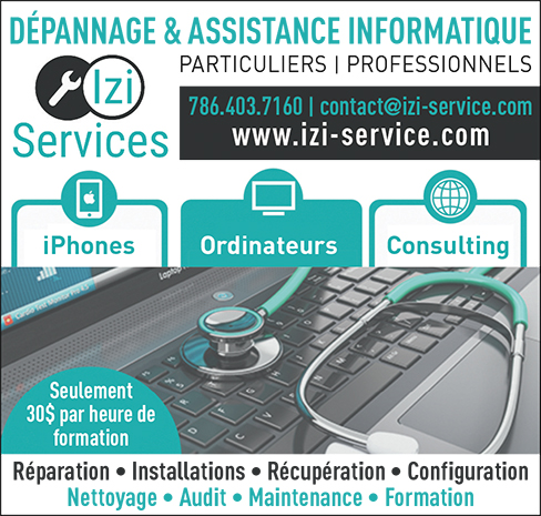 Izi Services dépannage, assistance-informatique en floride
