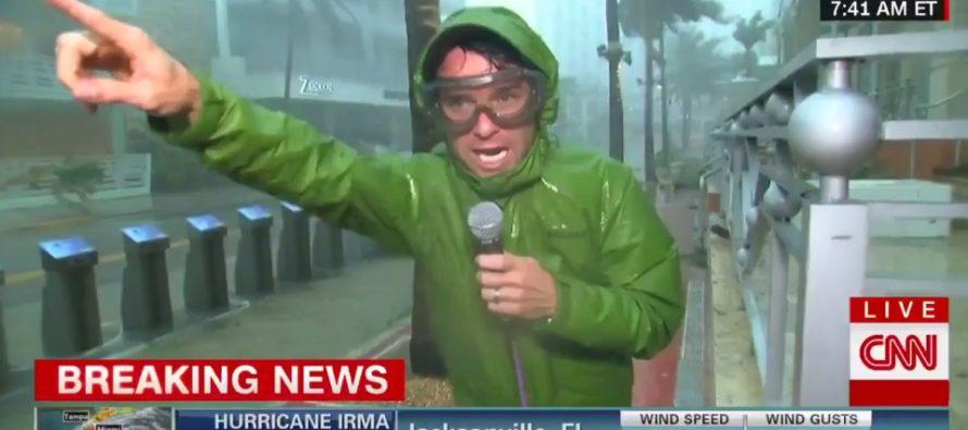 Ouragan Irma : la surenchère des chaînes de télé et les prises de risque insensées des journalistes