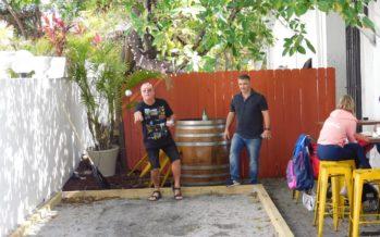 Un terrain de pétanque à Fort Lauderdale Beach (Floride) !
