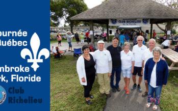 Journée du Québec du Club Richelieu à Pembroke Park (Floride) en mars