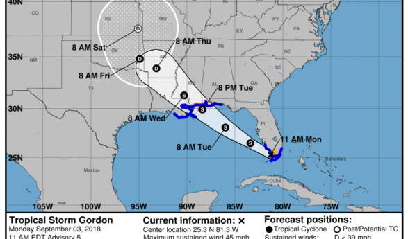 Sud Floride : des tempêtes tropicales en approche