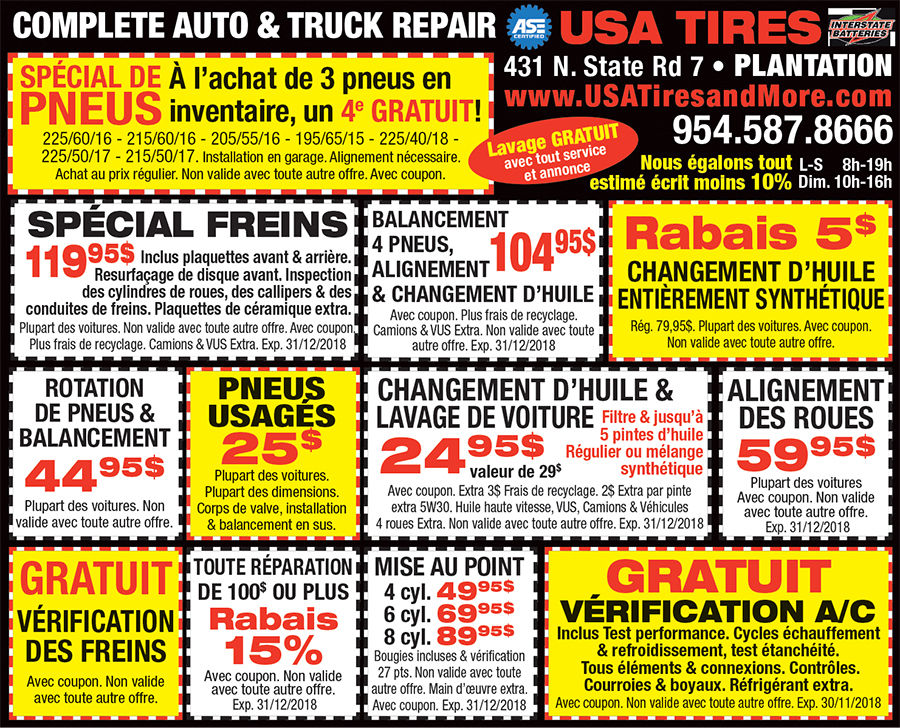 Garage auto USA Tires and More