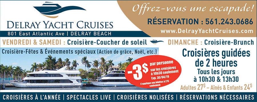 Delray Yacht Cruises croisières-spectacles delray beach floride