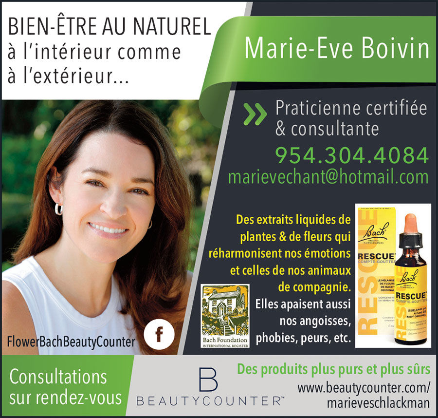 Marie-Eve Boivin Consultants Flower Bach Beauty Counter