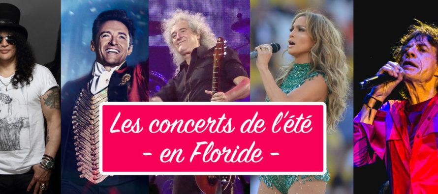 Les concerts de l'été à Miami et en Floride / Juillet-Août 2019