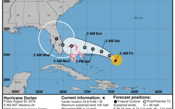 L'ouragan Dorian s'oriente désormais vers le sud Floride