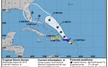 L'ouragan «Dorian» pourrait atteindre la Floride ce samedi