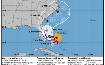 L'ouragan Dorian en catégorie 5 : les comtés de Broward et Palm Beach sont (entre autres) en alerte