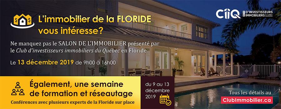 Academie CIIQ immobilier salon réseautage formation investiesseurs floride